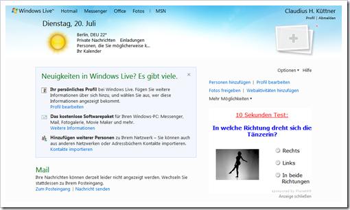 Windows Live Hotmail - Ihr Windows Live