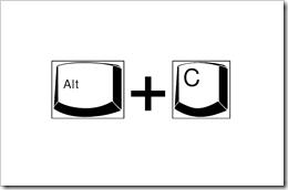 <ALT> C