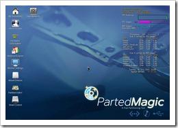 Parted Magic v4.11 LiveCD erwartet Ihre Eingaben