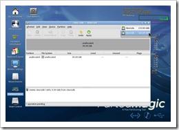 GParted - Festplatte auswählen