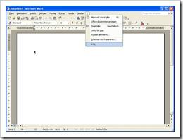 """Office 2002 - Menüe """"?"""" - Info"""