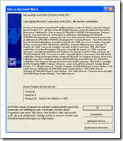 Microsoft Word 2002 Version 10.6612.6626 SP3