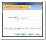 Loginnamen (hier Windows Live-ID) und Passwort eingeben