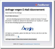 Anfrage wegen E-Mail-Abonnement