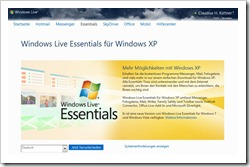 Windows Live Essentials für Windows XP