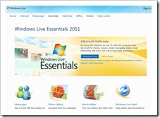 Windows Live Essentials 2011 für Vista und Windows Sieben