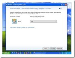 Windows Konto Kind wird mit dem Family Safety Konto Kind verknüpft