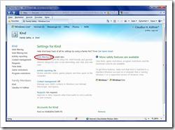 Einstellungen für Filtern von Internetinhalten konfigurieren