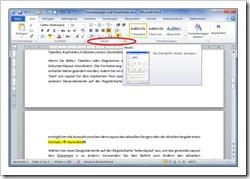 "Absatzkontrolle - Menüband Register ""Start"" - Gruppe ""Absatz"""