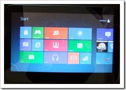 Der Startbildschirm von Windows 8 auf dem WeTab