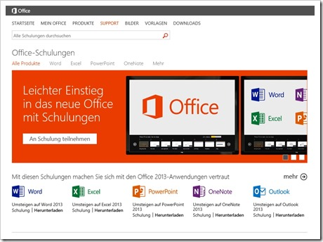 Office 2013 Schulungen