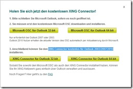 XING Connector für Outlook 2003/2007/2010
