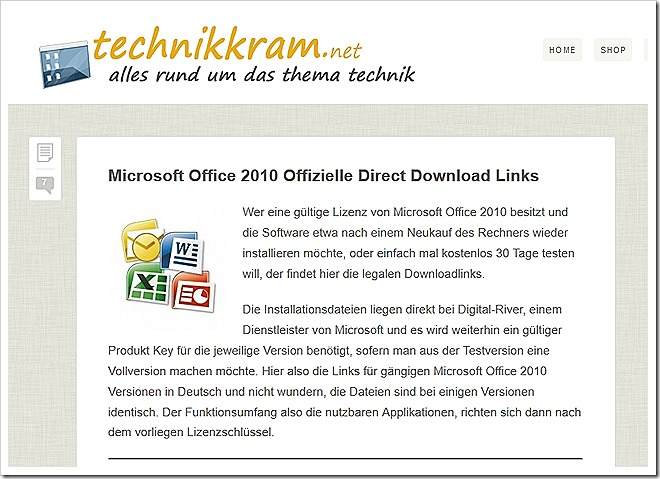 Microsoft Office 2010 Offizielle Direct Download Links